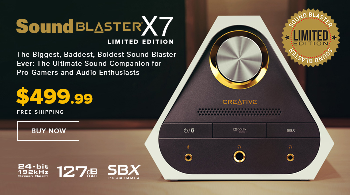 Sound Blaster X7 Limited Edition