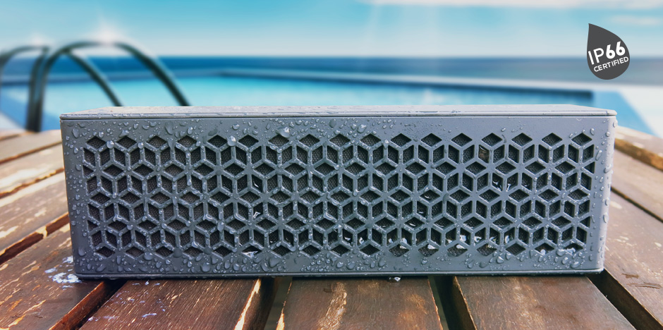 Weather-proof speaker with IP66 rating