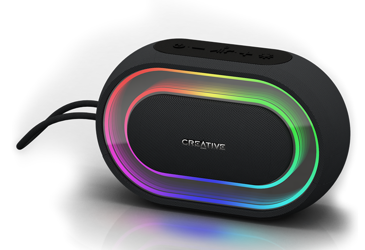 Creative Halo Portable Bluetooth Speaker With Programmable Light Show Creative Labs Pan Euro