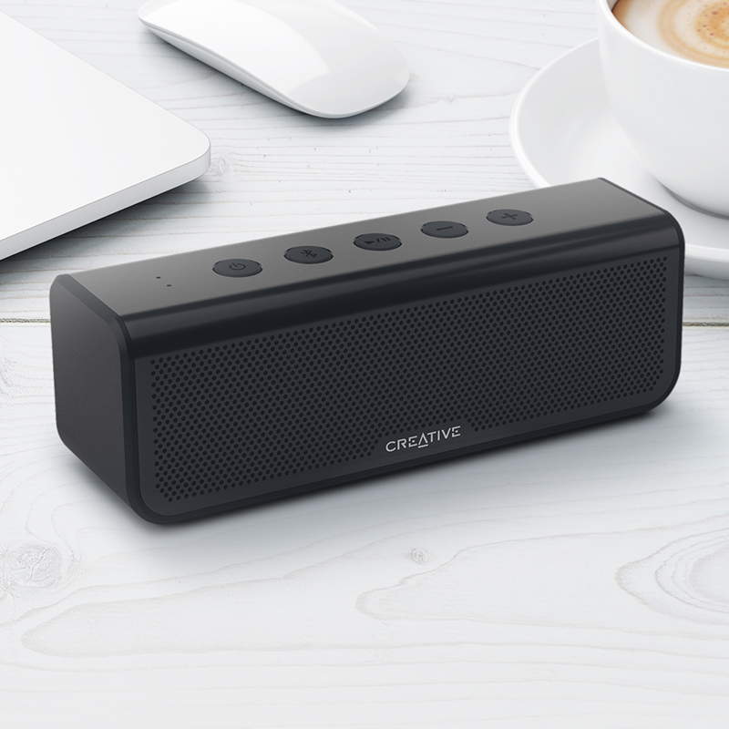 Audio Docks & Mini Speakers Portable Audio & Headphones Ships Today Moderate Price Competent Gray Ampd Fabric Mini Outdoor Wireless Speaker