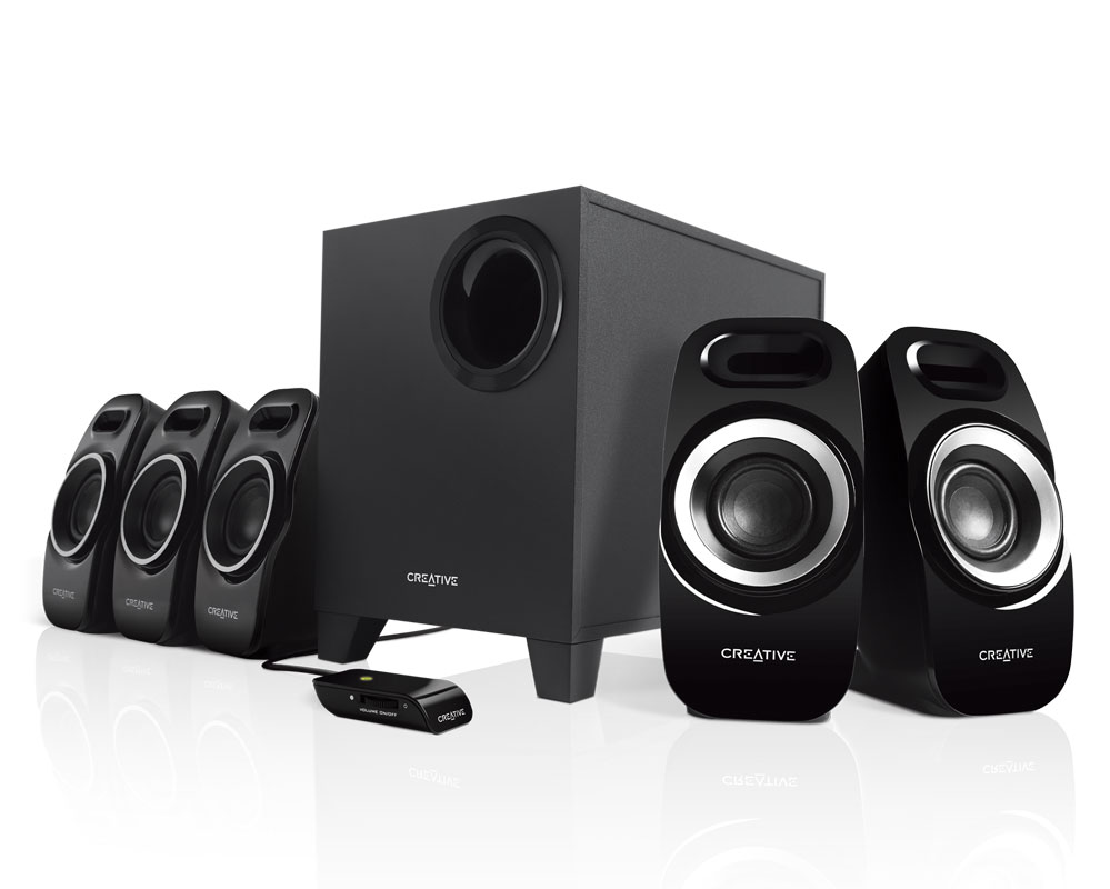 Creative inspire t6300 5 1 surround speaker system for Woofer speaker system