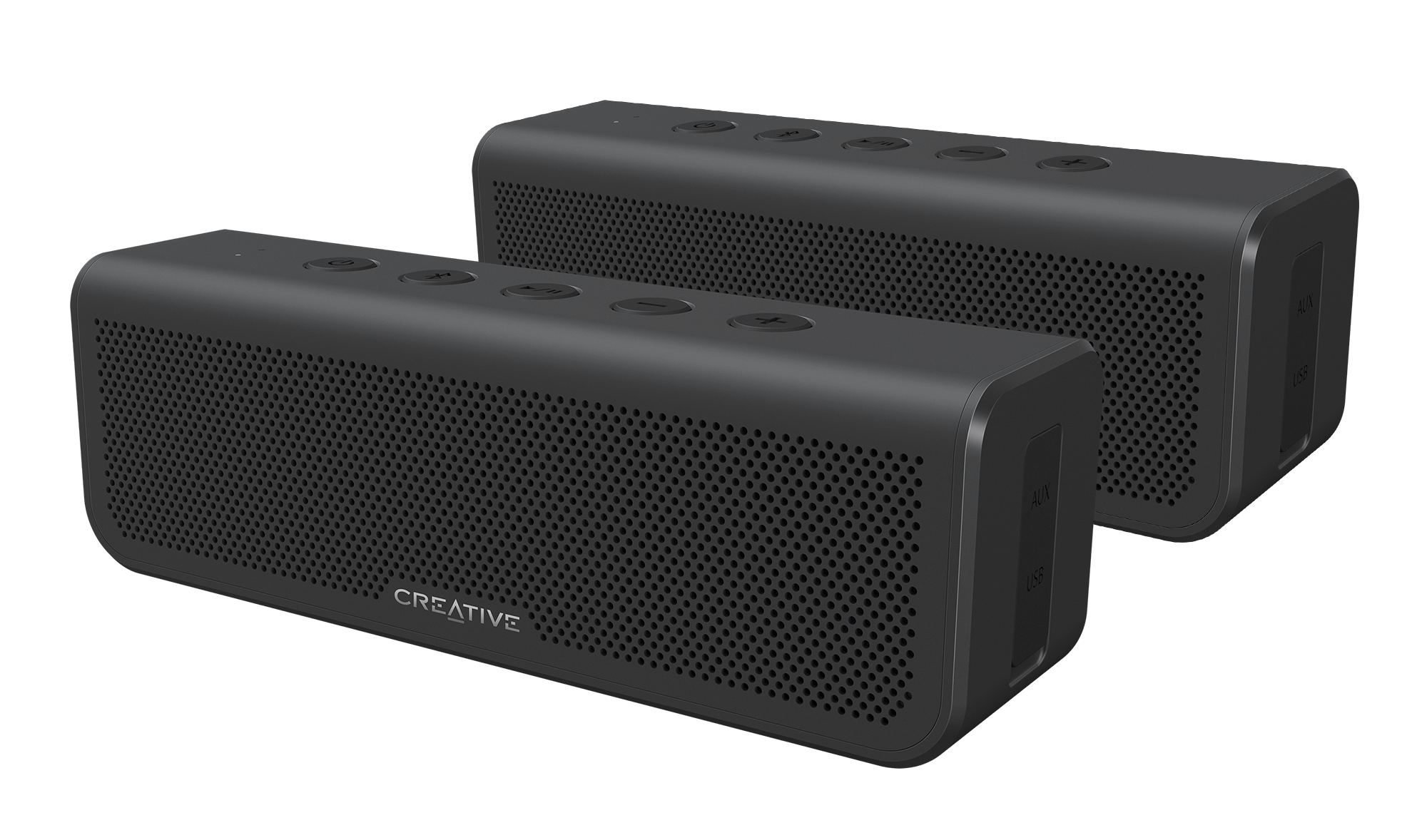 Audio Docks & Mini Speakers Ships Today Moderate Price Competent Gray Ampd Fabric Mini Outdoor Wireless Speaker