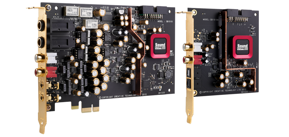 Creative SB1510 Sound Blaster ZxR SBX High Performance PCIE Gaming Sound Card with Audio Control Module & DBPro daughter board for PC & MAC  (CT-PCIEX-SBZXR)