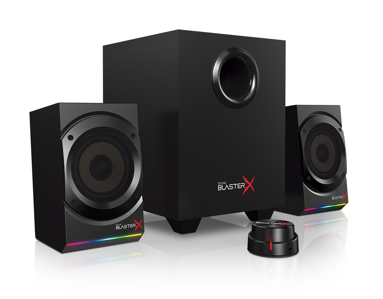 creative crv 51mf0470aa002 2 1 channel sound blasterx. Black Bedroom Furniture Sets. Home Design Ideas