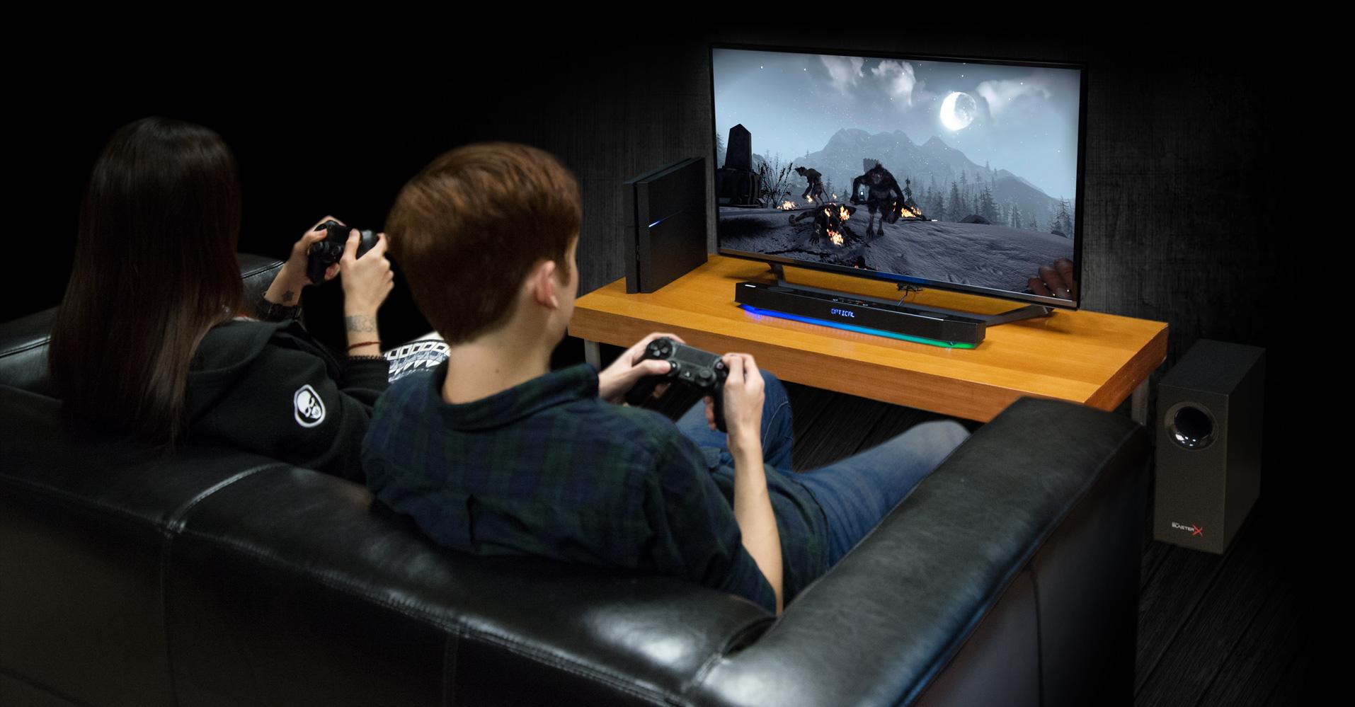 Sound BlasterX Katana - Multi-channel Gaming Soundbar - Creative Labs (Pan Euro)
