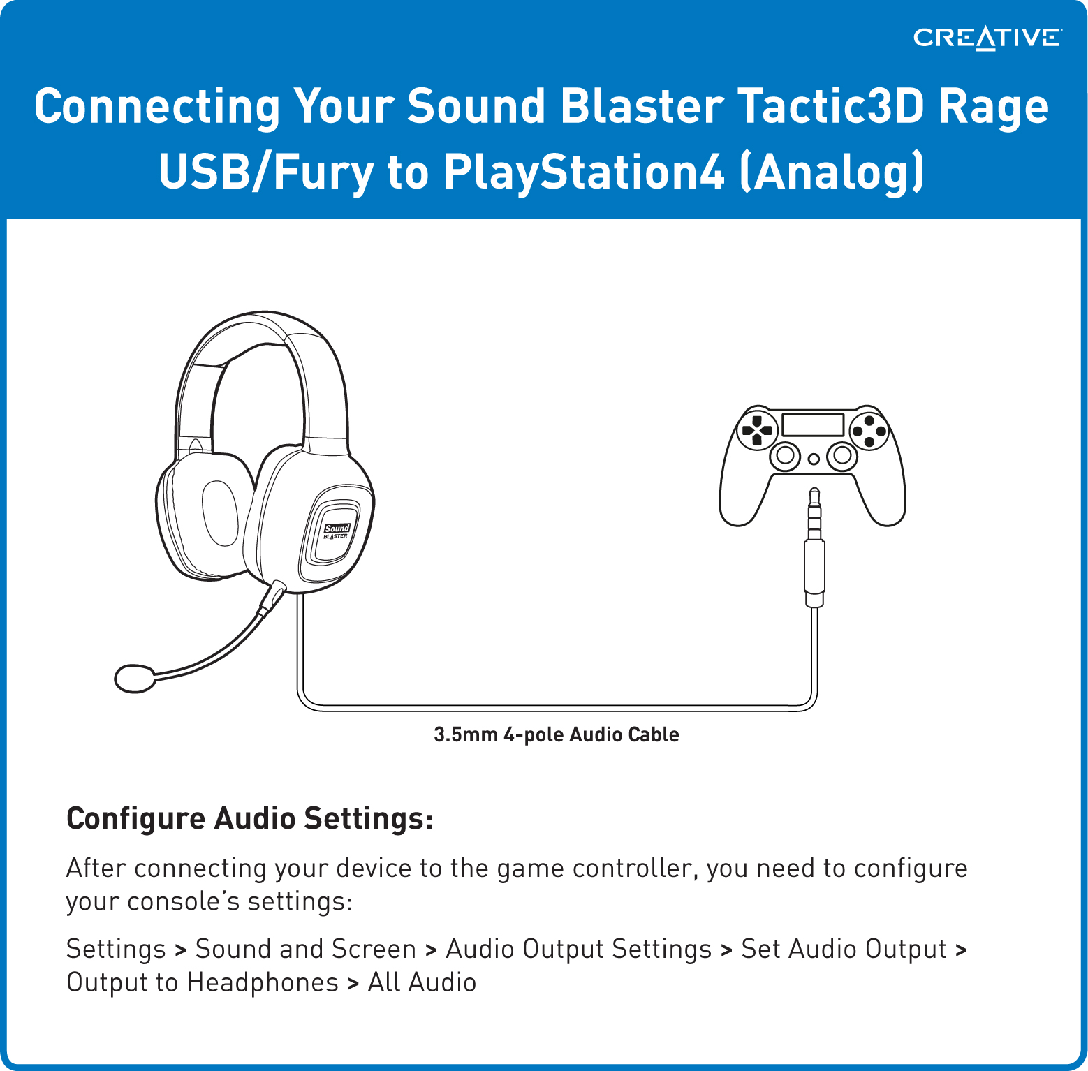Support Creative Com - Sound Blaster Gaming Headsets - Sony